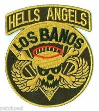 USSF 503rd Airborne Brigade Hells Angels Los Banos RT Golden Embroidered Patch