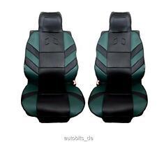 2x Coussin semi-remorque assis vert noir couverture de siège d' AUTO
