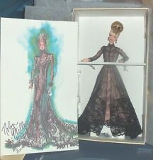 Mattel Nolan Miller Sheer Illusion Barbie Doll + Sketch NRFB