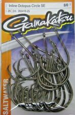 5 Pack Size 8//0 Gamakatsu 363418 Octopus Circle Outbarb Fishing Hooks
