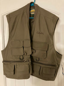 Cabelas Biege Fishing / Hunting Vest - New with Tags