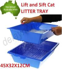 Lift and Sift Self Cleaning Kitty Litter Trays Cat Litter Box Tray Self Sifting