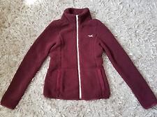 New Women's HOLLISTER 3-IN-1 Sherpa Jacket Liner Size XXS Burgundy