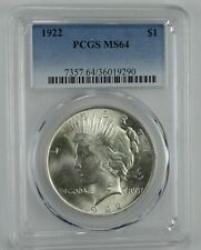 1922 Peace Silver Dollar - Graded MS64 PCGS.  LOW SHIPPING!!