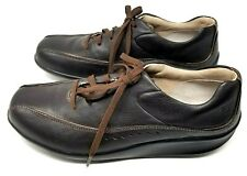Aravon New Balance womens walking shoe size 9 B brown leather lace up clean