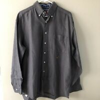 Tommy Hilfiger Men's Long Sleeve Shirt Gray Size 16 34/35