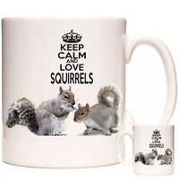 Squirrel Mug Keep Calm And Love Squirrels Can be personalised Dishwasher safe