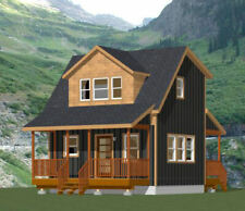 20x16 Tiny House -- PDF Floor Plan -- 557 sq ft -- Model 14A