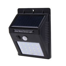 Solar Powered LED Security Wall Light With PIR Motion Sensor Auto Detection Outd