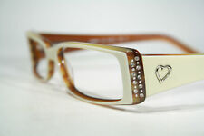 Size Small EYE ME 'Casino' Silver Heart & Rhinestones Decorated Glasses Frames