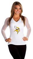 All Sport Couture NFL Womens Minnesota Vikings Wildkat Shirt NWT Pick Size