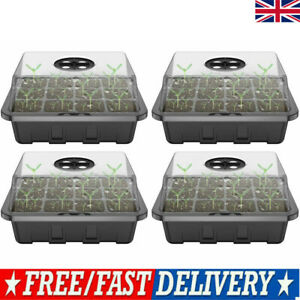 12 Cell Seed Trays Set Seedling Starter Tray Germination Plant Pots Grow Box PK