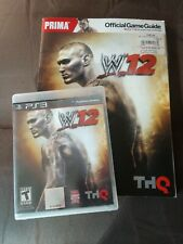 WWE '12 PS3 Video Game with PRIMA Official Game Guide.