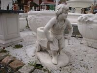 Putte Junge Höhe 48 cm Statue Figur  Gartendekorationen Marmor Betonwerkstein