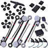 4 Power Roll Up Window & 4 Door Lock Conversion Kit Keyless Entry Auto Car Truck