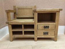 Westminster Solid Oak Hall Bench / Monks / Hallway / Storage 100cm 40cm 74.5cm