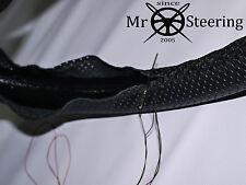 Para DACIA LOGAN I 04-12 verdadero cuero perforado volante cubierta doble STCH