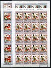 MACAO Macao 2001 Seng Yu Idioms 1128-31 jeu Cpl. Sheets tamponné Neuf sans charnière