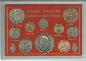 Great Britain Farewell to the £sd System Pre-Decimal 10 Coin (BU UNC) Gift Set