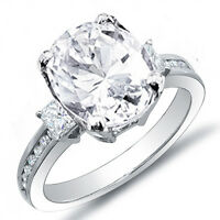 1.86 Ct. Oval Cut Princess & Round Channel Set Diamond Engagement Ring H,SI2 EGL