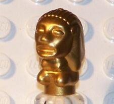 LEGO INDIANA JONES - Minifig, Utensil Peruvian Temple Idol - Metallic Gold