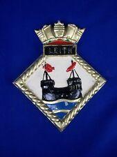"HMS Leith Ships Crest, Aluminium,  7.5 x 6 "" One off Casting Grimsby-class Sloop"