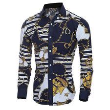 Luxury Men's Slim Fit Shirt Long Sleeve Dress Shirts Casual Shirts Fashion Tops