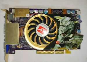ATi All-InWonder(AIW) X800 XT 256MB-256Bit DDR3  AGP Retro Games GOLD