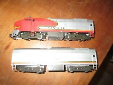 LIMA H/O SCALE SANTA FE A/B  DIESEL POWERED UNITS  SET NO BOX WORKING
