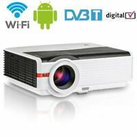 Heimkino DVB-T2 TV Beamer LED Android Wifi Multimedia LCD Projektor FHD Video