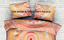 Indian Ombre Mandala Euro Sham Cushion Cover Gypsy Cotton Throw Pillow Cases 28""