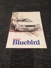 1986 Nissan Bluebird UK Car Brochure