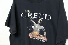 Creed Human Clay Vintage 1990's T Shirt Black 2 Sided Graphic Long Size Xl