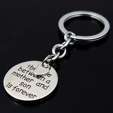 The Love Between a Mother and Son is Forever Heart Keychain Keyring Family Gift