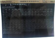 Honda XR650R 2000 - 2006 Parts List Microfiche h304