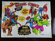 1975 Mead Marvel Comics poster Promotional Spiderman Hulk Iron man Thor Rare