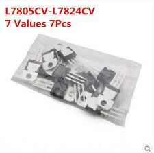 7Pcs 7 Values 7805-7824 7812 L7808-L7818CV L78 Voltage Regulator Assorted Kit