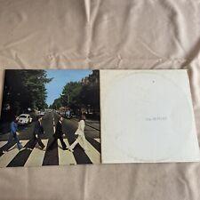 Lot 2 Beatles LP Records - Abbey Road - White Album