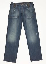 Met jeans W33 tg 46 48 relaxed regular fit straight dritto boyfriend blu T106