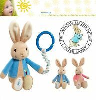 Beatrix Potter Peter Rabbit Flopsy Rabbit Attachable Pram Toy with Embossed Paw