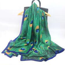 "100% Pure Mulberry Silk Women Large Scarf Islamic Hijab Foulard Shawl  70"" x 35"""