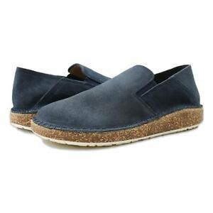 Birkenstock Womens Callan Suede Shoes Navy 36/Narrow (C, B) New