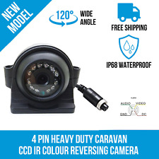 4 Pin Side Rear View CCD Night Vision Backup Camera For RV Truck Bus Trailer