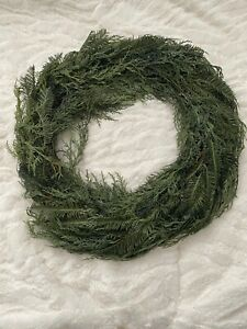 """Nordstrom Greenery Wreath Christmas Green Nearly Natural New In package 18"""""""