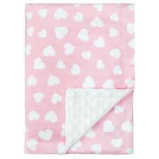 Comfy Cubs Baby Blanket Soft Minky Swaddle Cuddle Reversible Unisex Grey Design