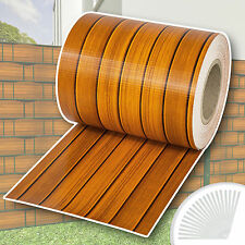 Garden fence screening privacy shade 35m roll panel cover mesh board pattern new