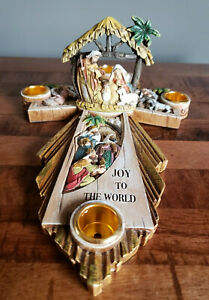 Joseph's Studio by Roman Nativity Theme Advent Candle Holder Holy Family Cross
