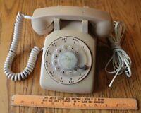 Vintage Western Electric Rotary Desk Telephone 500DM Beige R82-5 Bell System