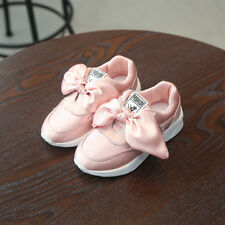 New Children Girl Sports Shoes Bow Kids Girl Casual Shoes Sneakers Student Shoes