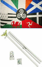 3x5 Celtic Nations Flag White Pole Kit Set 3'x5'